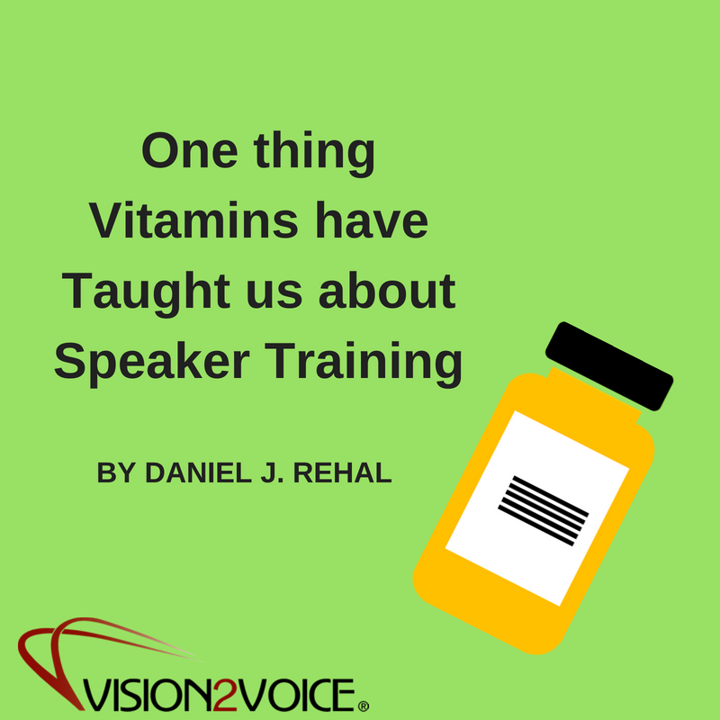 One thing Vitamins Have Taught us about Speaker Training