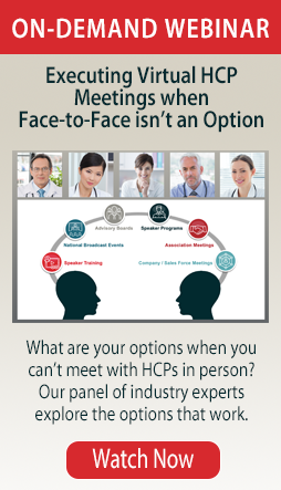Executing Virtual HCP Meetings when Face-to-Face isn't an Option